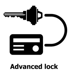 advanced lock icon simple black style vector image vector image