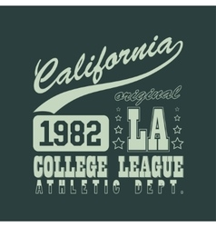California T-shirt vector image