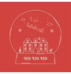 Christmas snowglobe card vector
