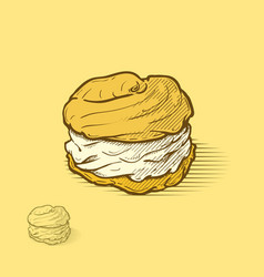 cream puffs vector image vector image