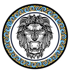 Decorative zodiac sign leo vector