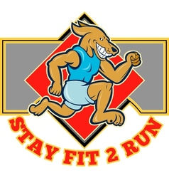 Dog running jogging stay fit 2 run vector