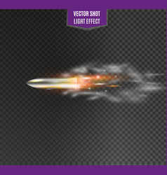 flying bulletthe movement of a bullet on a vector image