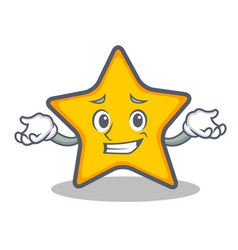 Grinning star character cartoon style vector