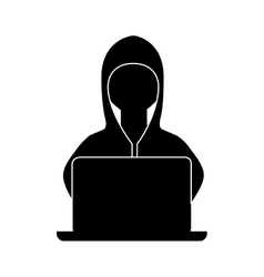 hacker avatar character isolated icon vector image