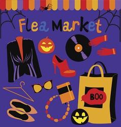 Halloween flea market vector