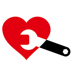 Heart surgery wrench icon vector