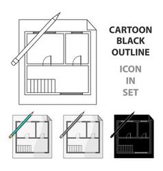 house planrealtor single icon in cartoon style vector image vector image