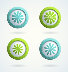 Icons with flowers vector image