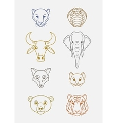 Indian flat animals vector image