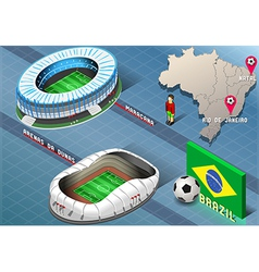 Isometric stadium of natal and rio de janeiro vector
