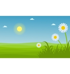 Landscape of spring with flower vector