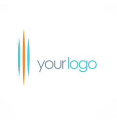 line abstract company logo vector image