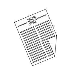 Newspaper with the headline job icon vector