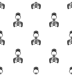 Plumber icon in black style isolated on white vector