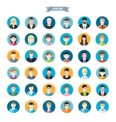 Set of stylish avatars man and woman icons vector