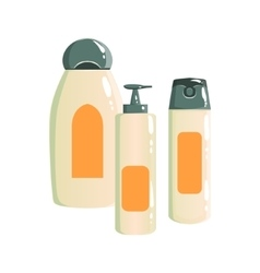 Shampoo deodorant and soap dispenser containers vector