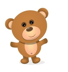 Teddy bear isolated on white background vector image