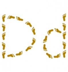 Traces letter d vector