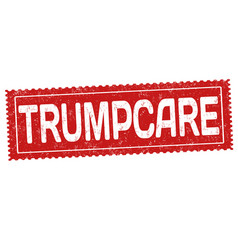 Trumpcare grunge rubber stamp vector