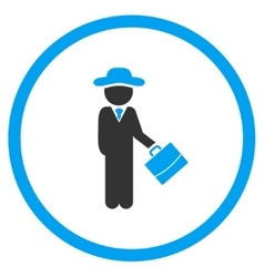 User manager circled icon vector