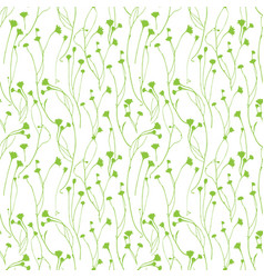 wild flower seamless floral endless pattern vector image