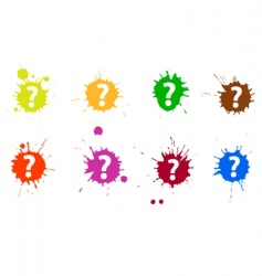 Question blots vector