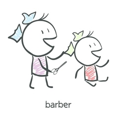 Vector comb hair sign icon barber symbol vector barber vector