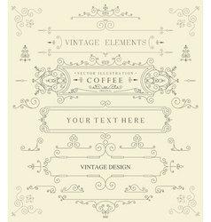 Decorative thin retro elements vector