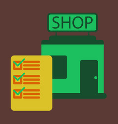 flat icon shop form vector image