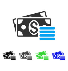 Dollar cash flat icon vector