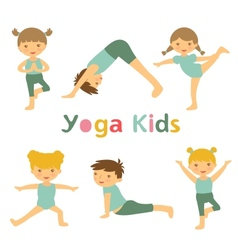 Yoga kids vector image