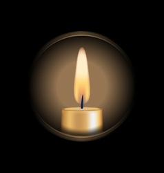 Candle glowes in hole vector