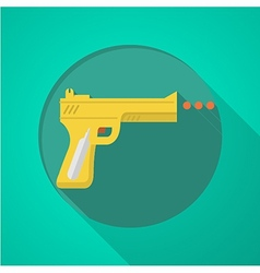 Sport air gun flat color icon vector