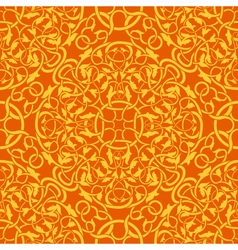 Orange seamless wallpaper pattern vector
