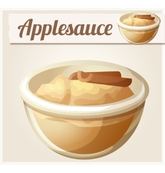 Applesauce detailed icon vector