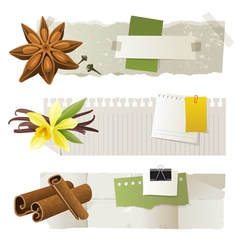 Aroma banners vector