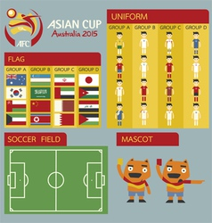 Asian cup australia 2015 vector image vector image
