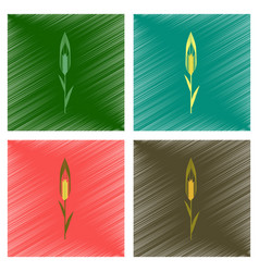 assembly flat shading style natural vector image vector image