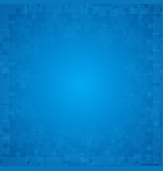 Blue puzzles pieces - jigsaw vector