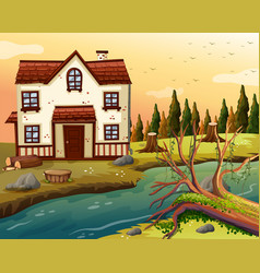 brickhouse by the river vector image vector image