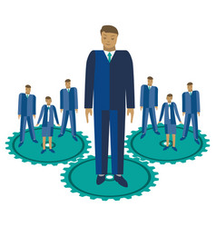 business team management flat vector image