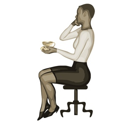 business woman and coffee vector image vector image