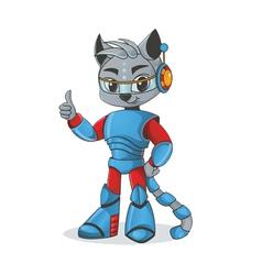 Cat robot vector