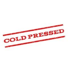 Cold pressed watermark stamp vector