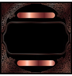 Copper Vintage Decorative Frame vector image vector image