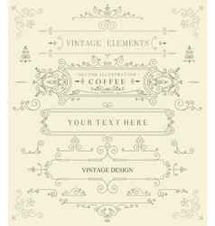 Decorative thin retro elements vector