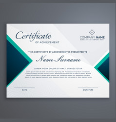 Diploma cerificate with modern pattern vector
