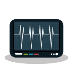 Eco heart monitor isolated icon design vector