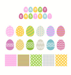 Egg and pattern seteaster collection vector